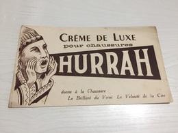 Buvard Ancien CRÈME DE LUXE CHAUSSURES HURRAH - Chaussures