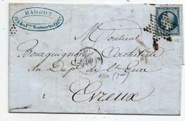 - SEINE - PARIS - Etoile Muette S/TPND N°10 Présidence + Cachet De Route N°1330 - 1852 - 1853-1860 Napoleon III