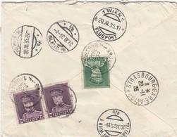 Registered Express Airmail Belgique 1935 To Austria - Belgien