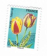 France Service Préo Preoblitéré Tulipe 0,38€  Année 2008 YT N°254 - Vendu à La Faciale - Face Value - Mint/Hinged