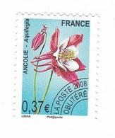 France Service Préo Preoblitéré Fleur Ancolie 0,37€  Année 2008 YT N°253 - Vendu à La Faciale - Face Value - Mint/Hinged