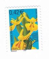 France Service Préo Preoblitéré Fleur Orchidée 0,42€  Année 2005 YT N°249 - Vendu à La Faciale - Face Value - Mint/Hinged