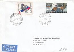Cover Slovensko Slovenia 2004 To Nepal (1. Trieda) - Slowakische Republik
