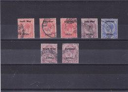 SWA SUD OUEST AFRICAIN 1923-1925  Yvert 2 + 14-15 + 26 + 28 + 39 + 50 Oblitéré, Cote : 5.50 Euro - Afrique Du Sud-Ouest (1923-1990)
