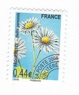 France Service Préo Preoblitéré Fleur Paquerette 0,44€  Année 2005 YT N°254 - Vendu à La Faciale - Face Value - Mint/Hinged