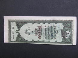 LOS Lotterie Böhmen Und Mähren 1939 ///  D*36056 - Lotterielose