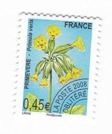 France Service Préo Preoblitéré Fleur Primevere 0,45€  Année 2008 YT N°256 - Vendu à La Faciale - Face Value - Mint/Hinged