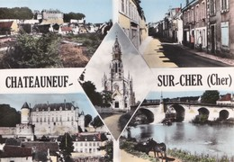 Carte 1960 CHATEAUNEUF SUR CHER / MULTIVUES - Chateauneuf Sur Cher