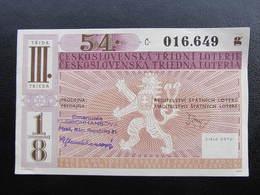 LOS Lotterie Ceskoslovensko 1946 ///  D*36057 - Lotterielose