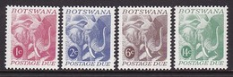 SERIE NEUVE DU BOSTWANA - ELEPHANT N° Y&T TIMBRES-TAXE 18 A 21 - Elephants