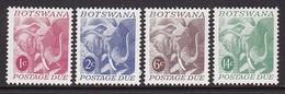 SERIE NEUVE DU BOSTWANA - ELEPHANT N° Y&T TIMBRES-TAXE 18 A 21 - Elefanten