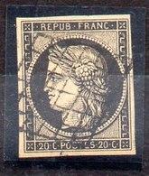 Sello De Francia N ºYvert 3 (o), Valor Catálogo 60.0€ - 1849-1850 Ceres
