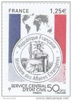 SERVICE CENTRALE D ETAT CIVIL FRANCE 2015 NEUF** LUXE YT 4959 - Neufs