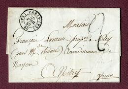 PARIS   Bureau ( FS )  : Taxe Imprimée à 2  (1849) - 1801-1848: Precursori XIX
