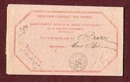 SAINTE-MARIE-AUX-MINES  :  CHARGEMENT  (1868)  -  BARR  (ALSACE) - Marcophilie (Lettres)