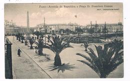 PORT-140  FARO : Avenida Da Republica E Praca D. Francisco Gomes - Faro