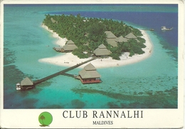 "Maldives, Club Rannalhi, An Aitken Spence Hotel, Aerial View, Thematic Stamp ""Basket Barcelona '92"", - Maldives"