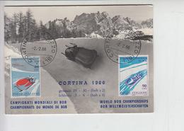 ITALIA 1966 - Campionati Mondiali Di Bob - Bellissima Cartolina - Inverno