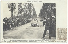 GABRIEL Sur Sa Voiture MORS De 70 Cv - Gros Plan - GRAND PRIX PARIS-MADRID 1903 -vainqueur - Sport Automobile