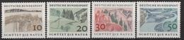 Germania 1969 Sc. 1000/1003 Protezione Della Natura Full Set  MNH Germany - Protezione Dell'Ambiente & Clima