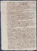 Manuscrit De 1807.René Vieau Et Armand Froger à Richelieu Contre Vuiblan Simon De Lamarche à Chinon....... - Manuscripts