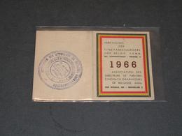 ASSOCIATION DES DIRECTEURS DE THEATRES CINEMATOGRAPHIQUES DE BELGIQUE-MEMBRE 1966-CINEMA MONTY LIEGE - Merchandising