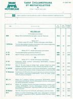 Doc Format A4 Tarifs Cyclomoteurs Velosolex 27 07 1981 - France