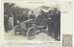 OSMONT Sur Sa Voiture Légère De DARRACQ De 40cv - Gros Plan - GRAND PRIX PARIS-MADRID (avec ROTSCHILD Sur La Photo) - Motorsport