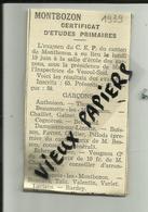 70 - Haute Saone -Résultats Certificat D'études- Canton De Montbozon - Extrait Original De Presse -1939 -  Réf 28 - - France