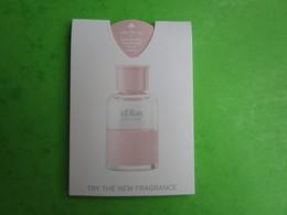S. OLIVER - PUFFER -  Carte Parfumée - Perfume Cards