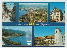 4.7.1989  -  AK/CP/Post Card (Mehrbildkarte) - ZG Zug Am Zugersee  - O Gestempelt  -  Siehe Scans (ch 5267) - ZG Zoug