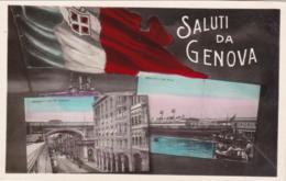 1920circa- Cartolina Foto Con Due Belle Vedutine Di Genova - Genova