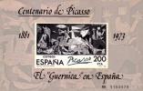 ESPAÑA 1981 EL GUERNICA DE PICASSO EN ESPAÑA - EDIFIL 2631 - Yvert Block Nº 29 - Picasso