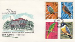 FDC NEW HEBRIDES BIRDS    /  2 - Francobolli