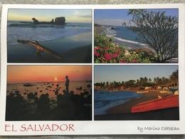 Circulated Postcard El Salvador 2012, Sea , Landscape, ( Stamps Of Lions Club, Orchid ) - Salvador