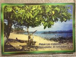Circulated Postcard El Salvador 2012, Beach , ( Ambulance Stamps ) - Salvador