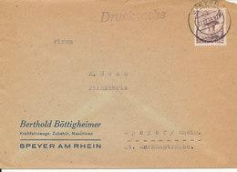 Germany French Zone Rheinland Pfalz Cover Speyer 27-12-1948 Single Franked - French Zone