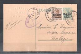 EP Belgique Occupation Allemande - Nivelles Vers Tubize 1916 - Enteros Postales