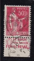 PUBLICITE: TYPE PAIX 50C ROUGE FER A CHEVAL-le Savon ACCP 803 OBLITERE - Advertising
