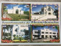 Circulated Postcard El Salvador 2012, Buildings , ( Fiirefighters Stamps ) - Salvador