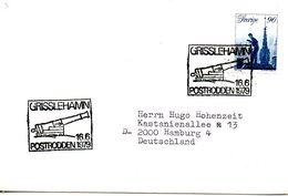 SUEDE. Flamme De 1979 Sur Enveloppe. Canon/Grisslehamn. - Militares
