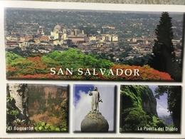 Circulated Postcard El Salvador 2012, Buildings , ( Lions Club , Butterflies Stamps ) - Salvador