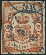 OLDENBURG 13 O, 1861, 2 Gr. Schwärzlichrotorange, Pracht, Gepr. Drahn, Mi. 550.- - Oldenbourg