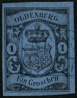 OLDENBURG 6a O, NEUE(NBURG), Blauer R2 Auf 1 Gr. Hellblau, Pracht - Oldenbourg