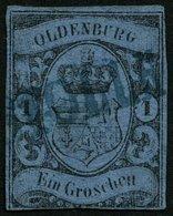 OLDENBURG 6a O, STOLLH(AM), Blauer L1 Auf 1 Gr. Hellblau, Marke Mängel - Oldenbourg