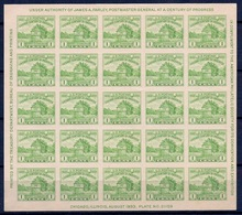 ETATS-UNIS USA - BLOC 1A  EXPO CHICAGO 1933 NEUF** EMIS SANS GOMME - Blocchi & Foglietti