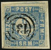 SCHLESWIG-HOLSTEIN 6 BrfStk, 131 (PREETZ) Auf 11/4 S. Grauultramarin, Prachtbriefstück - Schleswig-Holstein
