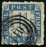 SCHLESWIG-HOLSTEIN 7 O, 149 (MÖLLN) Auf 11/4 S. Mittelblau/weißrosa, Pracht - Schleswig-Holstein