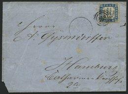 SCHLESWIG-HOLSTEIN 7 BRIEF, 168 (KIEL BAHNHOF) Auf 11/4 S. Mittelblau/weißrosa, Brief Nach Hamburg, Feinst, R! - Schleswig-Holstein