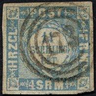 SCHLESWIG-HOLSTEIN 6 O, 173 (TRITTAU) Auf 11/4 S. Grauultramarin, Feinst, Gepr. W. Engel - Schleswig-Holstein